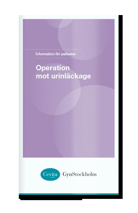 Operation mot urinläckage