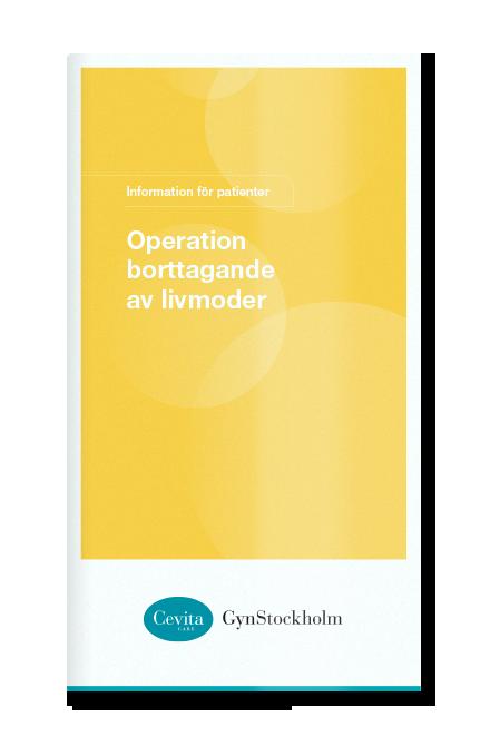 Operation borttagande av livmoder
